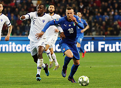 "March 23, 2019 - Udine, Italia - Foto LaPresse/Andrea Bressanutti.23/03/2019 Udine (Italia).Sport Calcio.Italia vs. Finlandia - European Qualifiers - Stadio ""Dacia Arena"".Nella foto: bernardeschi, kamara..Photo LaPresse/Andrea Bressanutti.March  23, 2019 Udine (Italy).Sport Soccer.Italy vs Finland - European Qualifiers  - ""Dacia Arena"" Stadium .In the pic: bernardeschi, kamara (Credit Image: © Andrea Bressanutti/Lapresse via ZUMA Press)"