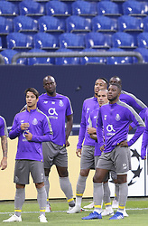 September 17, 2018 - Na - Gelsenkirchen, 17/09/2018 - Fc Porto trained this afternoon at the Veltins Arena in preparation for the game against FC Schalke 04 for the Champions League. Óliver, Danilo Pereira, Maxi Pereira, Bazoer. (Credit Image: © Atlantico Press via ZUMA Wire)