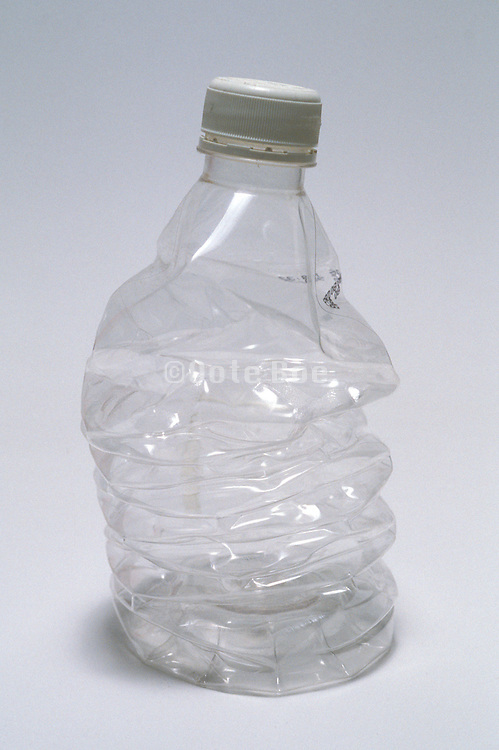 a crushed water bottle