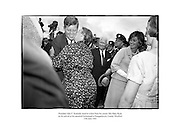 President John F. Kennedy receives a kiss from his cousin Mrs Mary Ryan on his arrival at his ancestral homestead at Dunganstown, County Wexford.<br /> <br /> 27/06/1963<br /> <br /> 27th June 1963