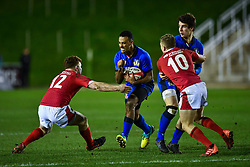 Michael Mba of Italy in action <br /> <br /> Photographer Craig Thomas/Replay Images<br /> <br /> U20 Six Nations - Wales v Italy  - Friday 31st January 2020 - Stadiwm Zip World (Parc Eirias) - Colwyn Bay<br /> <br /> World Copyright © Replay Images . All rights reserved. info@replayimages.co.uk - http://replayimages.co.uk
