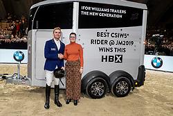 Balsigger Bryan, SUI, best rider of the show<br /> Jumping Mechelen 2019<br /> © Hippo Foto - Dirk Caremans<br />  30/12/2019
