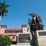 "Surrounded by 19th century architecture, Plaza Simon Bolivar is a small public square in Casco Viejo, a block from the waterfront. It is named after Venezuelan general Simón Bolívar, the ""Liberator of Latin America"", and a statue of Bolivar stands prominently in the center of the square."