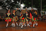Photo of dancers onstage at the Dublin Irish Festival in Dublin, Ohio.