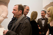 GARY HUME, DINOS CHAPMAN AND MEREDITH OSTRON, 'Evolution', an exhibition of work by Marc Quinn. White Cube. Mason's Yard. London. 24 January 2008. -DO NOT ARCHIVE-© Copyright Photograph by Dafydd Jones. 248 Clapham Rd. London SW9 0PZ. Tel 0207 820 0771. www.dafjones.com.