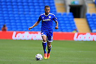 Jazz Richards of Cardiff city in action. EFL Skybet championship match, Cardiff city v Queens Park Rangers at the Cardiff city stadium in Cardiff, South Wales on Sunday 14th August 2016.<br /> pic by Andrew Orchard, Andrew Orchard sports photography.