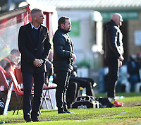 Northampton Town manager Keith Curle shouts instructions to his team from the technical area<br /> <br /> Photographer Andrew Vaughan/CameraSport<br /> <br /> The EFL Sky Bet League Two - Lincoln City v Northampton Town - Saturday 9th February 2019 - Sincil Bank - Lincoln<br /> <br /> World Copyright © 2019 CameraSport. All rights reserved. 43 Linden Ave. Countesthorpe. Leicester. England. LE8 5PG - Tel: +44 (0) 116 277 4147 - admin@camerasport.com - www.camerasport.com