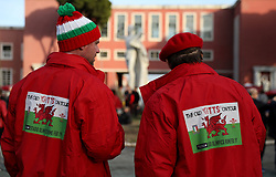Wales fans before the Guinness Six Nations match at The Stadio Olimpico, Rome.