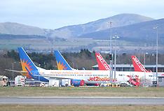 Airport During Coronavirus Outbreak, Edinburgh, 31 March 2020