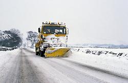 Snow plough & gritter Co Durham UK