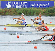 Eton. Great Britain.  GBR JM2-, Fri. morning repechage,  Bow,Oleg ISAEV and Andrew BROWN, competing at the Eton Rowing Centre 2011 FISA Junior  World Rowing Championships. Dorney Lake, Nr Windsor. Friday, 05/08/2011  [Mandatory credit: Peter Spurrier Intersport Images]