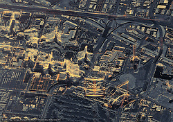 Apr 3, 2016 - Las Vegas, Nevada, U.S. - Terrasar-X Las Vegas. Las Vegas officially the City of Las Vegas and often known simply as Vegas, is the 28th-most populated city in the United States, the most populated city in the state of Nevada, and the county seat of Clark County. The city anchors the Las Vegas Valley metropolitan area and is the largest city within the greater Mojave Desert. Las Vegas is an internationally renowned major resort city known primarily for its gambling, shopping, fine dining, entertainment, and nightlife. It is the leading financial, commercial, and cultural center for Nevada. (Credit Image: © Airbus DS/Airbus DS via ZUMA Wire/ZUMAPRESS.com)