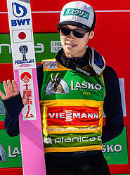 24.03.2019, Planica, Ratece, SLO, FIS Weltcup Ski Sprung, Skiflug, Einzelbewerb, Finale, Siegerehrung, Tageswertung, im Bild Ryoyu Kobayashi (JPN) // Ryoyu Kobayashi of Japan during the winner ceremony for the day victory of the Ski Flying World Cup Final 2019. Planica in Ratece, Slovenia on 2019/03/24. EXPA Pictures © 2019, PhotoCredit: EXPA/Stefanie Oberhauser