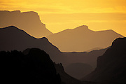 Image of layered hills at sunrise at Big Bend National Park, Texas, American Southwest by Randy Wells
