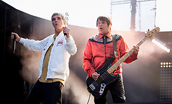 Ian Brown, Mani, John Squire and Reni of Stone Roses perform on stage at Wembley Stadium in London on 17 June 2017.<br /> (Editorial Usage only and 60 Days)<br />