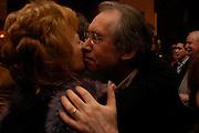 Edna O'Brien and  Ian McEwan. Book party for Saturday by Ian McEwan, Polish Club, South Kensington.  4 February 2005. ONE TIME USE ONLY - DO NOT ARCHIVE  © Copyright Photograph by Dafydd Jones 66 Stockwell Park Rd. London SW9 0DA Tel 020 7733 0108 www.dafjones.com