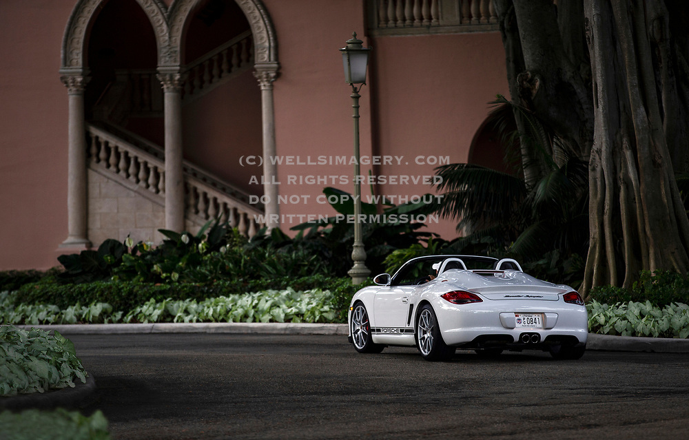 Image of a 2011 White Porsche Boxster Spyder in Boca Raton, Florida, America Southeast by Randy Wells