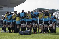 March 2, 2019 - Galway, Ireland - Ospreys players pictured during the Guinness PRO 14 match  between Connacht Rugby and Ospreys at the Sportsground in Galway, Ireland on March 2, 2019  (Credit Image: © Andrew Surma/NurPhoto via ZUMA Press)