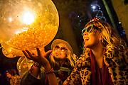 The Solas area is full of entertaining light sculptures - The 2017 Latitude Festival, Henham Park. Suffolk 13 July 2017