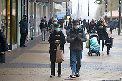 © Licensed to London News Pictures. 10/12/2020. <br /> Bexleyheath, UK. Christmas shoppers at Bexleyheath Broadway in the London borough of Bexley today. London is under threat of going into tier three as the Coronavirus infection rate increases across more than twenty London Boroughs. Photo credit:Grant Falvey/LNP