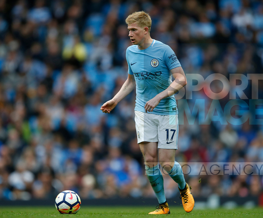 Kevin De Bruyne of Manchester City during the premier league match at the Etihad Stadium, Manchester. Picture date 22nd September 2017. Picture credit should read: Simon Bellis/Sportimage