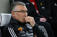 Watford's head coach Nigel Pearson during the Premier League match at the American Express Community Stadium, Brighton and Hove. Picture date: 8th February 2020. Picture credit should read: Paul Terry/Sportimage