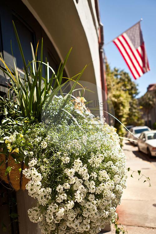 Scene along Queen Street in Charleston, SC.