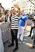 CANNES 2016: <br /> <br /> LEWIS HAMILTON MEETS FANS TO HIS HOTEL IN CANNES AT THE 69TH FESTIVAL , Wednesday, May 18, 2016<br /> ©Exclusivepix Media