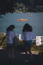 THEMENBILD - Boote am Zeller See, aufgenommen am 28. Juli 2020 in Zell am See, Österreich // Boats at the Zeller Lake, Zell am See, Austria on 2020/07/28. EXPA Pictures © 2020, PhotoCredit: EXPA/ JFK