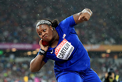 USA's Michelle Carter in action in the Women's Shot Put during day six of the 2017 IAAF World Championships at the London Stadium.