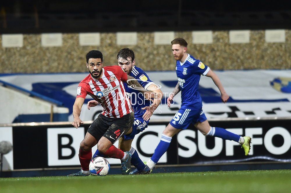 Ipswich Town defender Luke Chambers (4) runs with the ball during the EFL Sky Bet League 1 match between Ipswich Town and Sunderland at Portman Road, Ipswich, England on 26 January 2021.