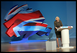 Home Secretary Theresa May speech  at the Conservative Party Conference in Birmingham, Tuesday, 9th October 2012. Photo by: Stephen Lock / i-Images