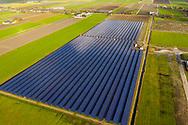 Nederland, Heerhugowaard, 20190211<br /> Zonnepark de Vaandel in Heerhugowaard van Ecorus op industrieterrein de Vaandel. 34.000 panelen leveren stroom voor 2250 huishoudens. Het park levert 9,6 MW op.<br /> Foto (c) Michiel Wijnbergh