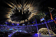 Fireworks explode during the Closing Ceremony for the London 2012 Summer Olympics on August 12, 2012 in Stratford, London. The next Summer Olympic Games will be in 2016 in Rio de Janeiro. (UPI)