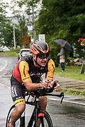 Male Competitor during the bike segment in the 2018 Hague Endurance Festival Sprint Triathlon