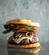 Cheeseburger with Mushrooms and Onions