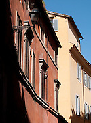 Architectural detail on buildings in Rome, Italy.