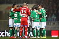 Joueurs de Saint Etienne - 28.02.2015 - Toulouse / Saint Etienne - 27eme journee de Ligue 1 -<br />Photo : Manuel Blondeau / Icon Sport