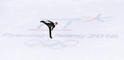 PYEONGCHANG, Feb. 12, 2018  Matteo Rizzo of Italy competes during the men's single free skating of figure skating team event at the 2018 PyeongChang Winter Olympic Games, in Gangneung Ice Arena, South Korea, on Feb. 12, 2018. Italy won the fourh place of figure skating team event with 56 points in total. (Credit Image: © Han Yan/Xinhua via ZUMA Wire)
