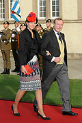 Religious wedding of Grand Duke Guillaume and Princess Stephanie at the Cathedral Notre-Dame in Luxembourg <br /> <br /> On the photo: Prince Jean of Luxembourg
