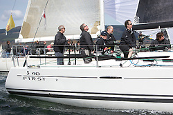RWYC's Savills Kip Regatta  9-10th May 2015 <br /> Excellent conditions for the opening racing of the Clyde Season<br /> <br /> Class 1 leader,GBR8140C, Zephyr, Steven Cowie<br /> <br /> Credit : Marc Turner / PFM