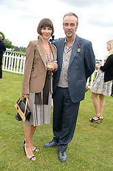 JOHN HANNAH and JOANNA ROTH at the 2013 Cartier Queens Cup Polo at Guards Polo Club, Berkshire on 16th June 2013.