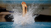 Texas diver Jordan Windle performs a dive during the Big 12 swimming and diving championships on Friday, March 2, 2019, in Austin, Texas. NICK WAGNER / AMERICAN-STATESMAN