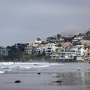 Beach front homes in Malibu, California.