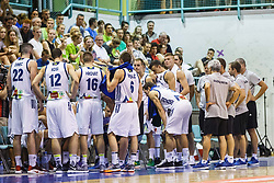 Players of national team Slovenia during friendly basketball match between National teams of Slovenia and Hungary on day 1 of Adecco Cup 2017, on August 4th in Arena Tabor, Maribor, Slovenia. Photo by Grega Valancic/ Sportida