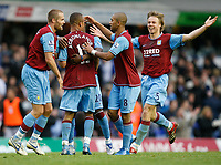Photo: Steve Bond/Sportsbeat Images.<br /> Birmingham City v Aston Villa. The FA Barclays Premiership. 11/11/2007. Gabriel Agbonlahor (second L) is congratulated