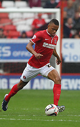 Charlton Athletic's Jordan Cousins carries the ball  - Photo mandatory by-line: Robin White/JMP - Tel: Mobile: 07966 386802 24/08/2013 - SPORT - FOOTBALL - The Valley - Charlton -  Charlton Athletic V Doncaster Rovers - Sky Bet League Two