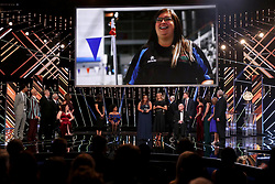 Kirsty Ewen receives her Unsung Hero Award during the BBC Sports Personality of the Year 2018 at Birmingham Genting Arena.