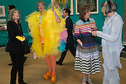 DAME JILLIAN SACKLER; GRAYSON PERRY; KIRSTY WARK PHILLIPA PERRY, Royal Academy Summer exhibition private view. Piccadilly. London. 3 June 2015