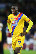 Christian Benteke of Crystal Palace looking dejected at the end of the game. Premier League match, Burnley v Crystal Palace at Turf Moor in Burnley , Lancs on Saturday 5th November 2016.<br /> pic by Chris Stading, Andrew Orchard sports photography.